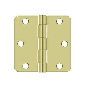 "3""x 3""x 1/4"" Radius Hinge - Zinc Dichromate Product Image"