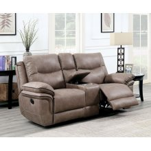 STEVE SILVER IS850CLS Isabella Sand Console Reclining Loveseat