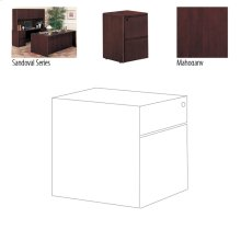 OFFICE DESK PEDESTAL MAHONGANY, 15.25X28.5X19