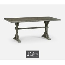 "72"" Solid Antique Dark Grey Dining Table"