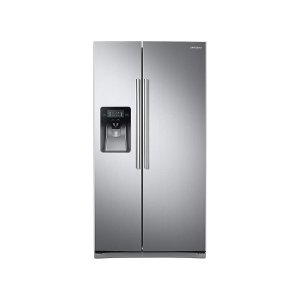 25 cu. ft. Side-by-Side Refrigerator with LED Lighting in Stainless Steel Product Image