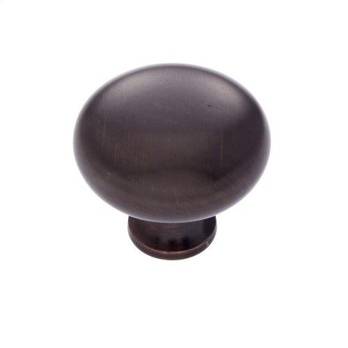 "Old World Bronze 1-1/4"" Mushroom Knob"