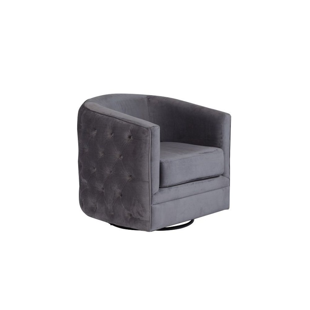 Gabby Gray Swivel Accent Chair, AC506