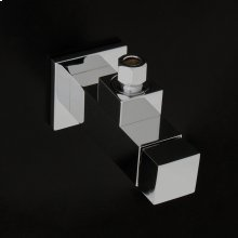 Angle valve in square shape.