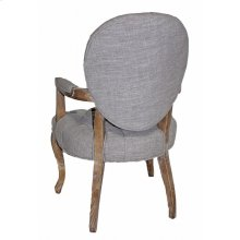 Round Back All Tufted Arm Chair