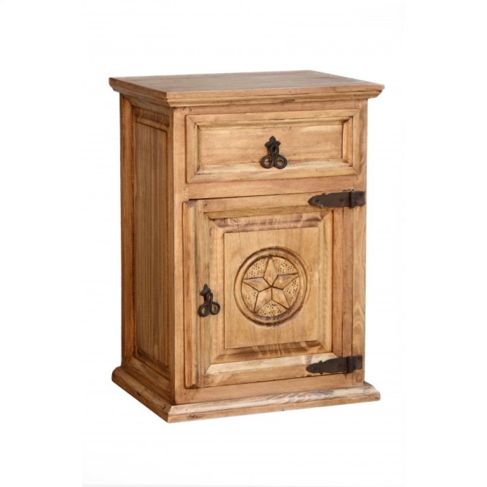 Traditional Nightstand With Texas Star