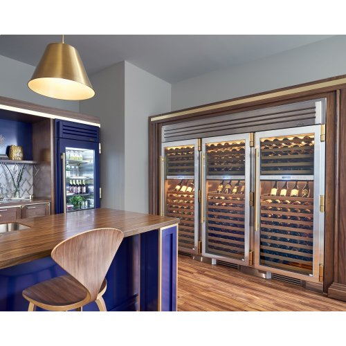30 Inch Stainless Door Wine Column - Right Hinge Stainless Glass