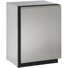 """Stainless Handleless Panel 24"""" Solid - Stainless Steel"""