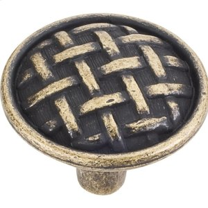"1-5/8"" Diameter Braided Cabinet Knob. Product Image"