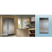 """42"""" Refrigerator Freezer - 42"""" Marvel Side-by-Side Combination Refrigerator Freezer - Stainless Interior with Panel Ready Stainless Steel Doors"""