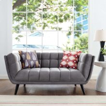 Bestow Performance Velvet Loveseat in Gray