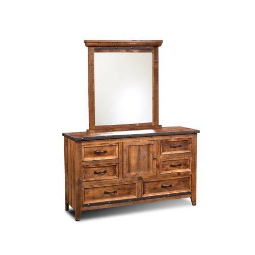 HH-4365 Bedroom  Dresser with Mirror  6 Drawers  Storage Cabinet