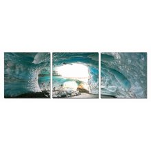 Modrest Ice Cave 3-Panel Photo On Canvas