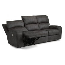 Rhapsody Power Reclining Sofa with Power Headrests *Available in Saddle Brown or Grey Microfiber*