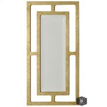 YORK MIRROR- GOLD  Gold Finish on Metal Frame  Plain Glass Beveled Mirror