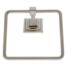 Satin Nickel Gradus Square Towel Ring