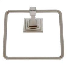 Satin Nickel Gradus Square Towel Ring
