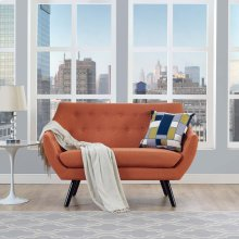 Allegory Loveseat in Orange