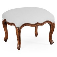 Small French Provincial Walnut Footstool