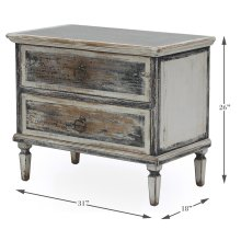 Zinc Top Two Drawer Commode
