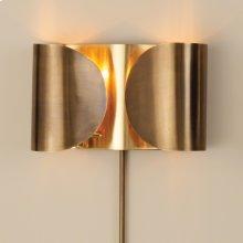Folded Sconce-Antique Brass/Brass