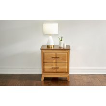 2 DRAWER NIGHTSTAND w/ USB