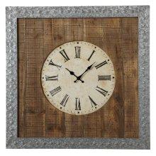 Galvanized Frame Wall Clock