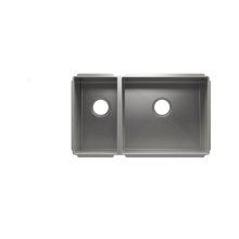 "J7® 003982 - undermount stainless steel Kitchen sink , 9"" × 16"" × 8""  18"" × 16"" × 10"""