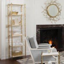 Arbor Etagere-Brass/White Marble