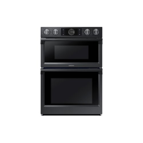 "30"" Flex Duo Microwave Combination Wall Oven in Black Stainless Steel"