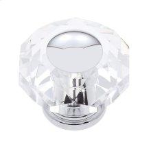Polished Chrome 50 mm 8-Sided Crystal Knob