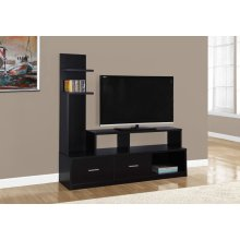 "TV STAND - 60""L / CAPPUCCINO WITH A DISPLAY TOWER"