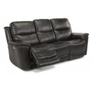 Cade Leather Power Reclining Sofa with Power Headrests Product Image