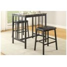 3-Piece Pack Counter Height Set, Faux Mable Top Product Image