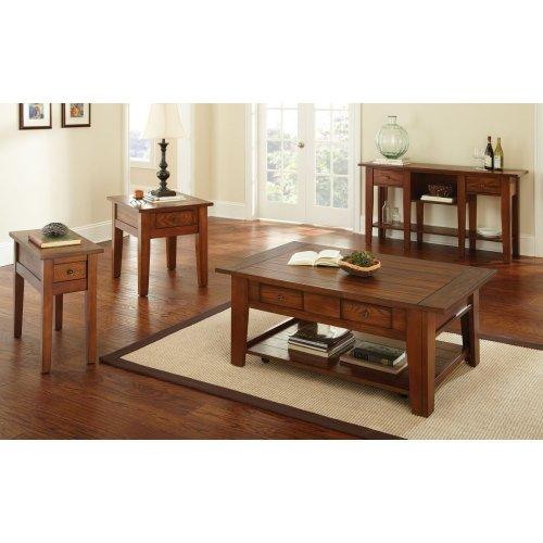"""Desoto Chairside End Table, Oak 13""""x28""""x24"""""""