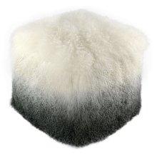 Tibetan Sheep White to Grey Pouf