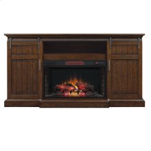 Cabaret TV Stand with Electric Fireplace