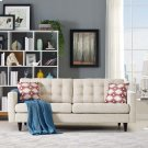 Empress Upholstered Fabric Sofa in Beige Product Image