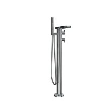 Wisp Floor-mount Thermostatic Tub Filler with Handshower - Polished Chrome