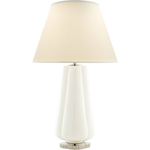 Visual Comfort AH3127WHT-PL Alexa Hampton Penelope 30 inch 60 watt White Porcelain Table Lamp Portable Light
