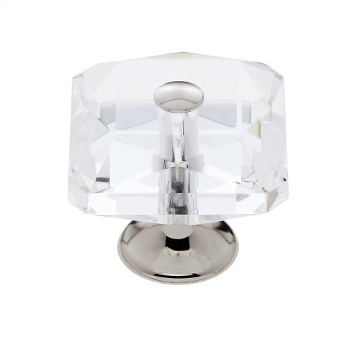Polished Nickel 35 mm Square Crystal Knob