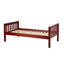 Basic Bed (Low/Low) : Twin : Chestnut : Slat