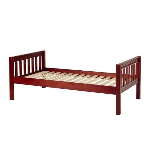 Basic Bed (Low/Low) : Twin : Chestnut : Slat