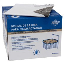 """60 Pack-Plastic Compactor Bags-18"""" Models - Other"""