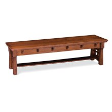 MaKayla Dining Bench, Wood Seat