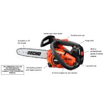 ECHO CS-271T 26.9cc Top Handle Chain Saw