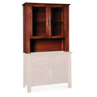 """East Village Open Hutch Top, 43 1/2""""w, Antique Glass Product Image"""
