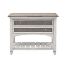 Glendale Estates 2 Drawer USB Charging Open Nightstand