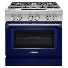 36'' 6-Burner Dual Fuel Freestanding Range, Commercial-Style - Cobalt Blue DISPLAY CLEARANCE