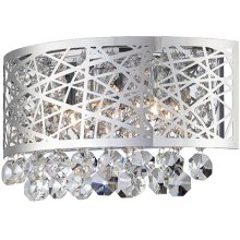 Wall Sconce, Chrome/crystals, Type Jcd/g9 25wx3